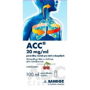 ACC 20 mg/ml perorálny roztok pre deti a dospelých sol por (fľ.skl.hnedá+striekačka) 1x100 ml vyobraziť