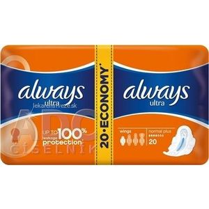 ALWAYS ULTRA NORMAL PLUS-DVOJBALENIE 20 hygienické vložky (economy) 1x20 ks vyobraziť