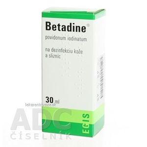 Betadine dezinfekčný roztok 100 mg/ml sol der (fľ.plast.) 1x30 ml vyobraziť