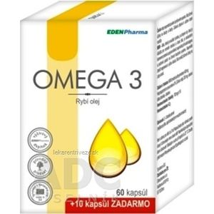 EDENPharma OMEGA 3 cps 60 +10 zadarmo (70 ks) vyobraziť