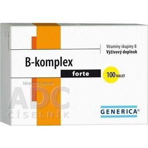 GENERICA B-komplex forte tbl 1x100 ks vyobraziť