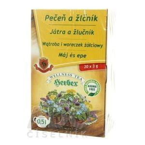 HERBEX PEČEŇ A ŽLČNÍK bylinný čaj 20x3 g (60 g) vyobraziť