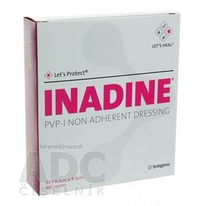 INADINE Povidone Iodine neadhezívne krytie (9, 5x9, 5 cm) 1x25 ks vyobraziť