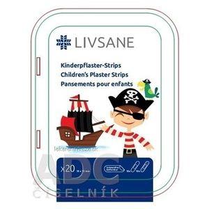 LIVSANE Náplasť detská prúžky Pirát 19x72 mm, 1x20 ks vyobraziť
