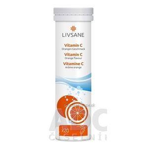 LIVSANE Vitamín C tbl eff (šumivé tablety, príchuť pomaranč) 1x20 ks vyobraziť