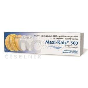 MAXI-KALZ 500 tbl eff 500 mg (tuba PP) 1x20 ks vyobraziť