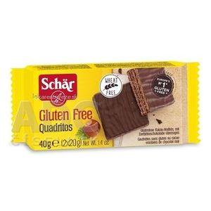 Schär QUADRITOS oblátky bezgluténové, kakaové vafle v horkej čokoláde, 1x40 g vyobraziť