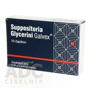 Suppositoria Glycerini Galvex sup 10x2, 06 g vyobraziť