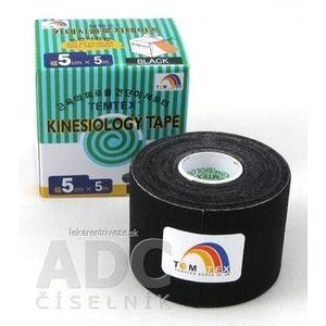TEMTEX KINESOLOGY TAPE tejpovacia páska, 5 cm x 5 m, čierna 1x1 ks vyobraziť