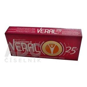 VERAL 25 mg tbl ent (blis. Al/PVC) 1x30 ks vyobraziť