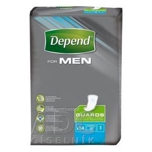 DEPEND FOR MEN inkontinenčné vložky pre mužov 1x14 ks vyobraziť
