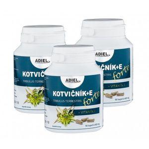 ADIEL trojbalenie Kotvičník zemný FORTE s vitamínom E 3 × 90 kapsúl vyobraziť