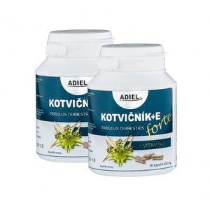 ADIEL dvojbalenie Kotvičník zemný FORTE s vitamínom E 2 × 90 kapsúl vyobraziť