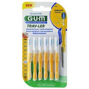 GUM Trav-Ler medzizubná kefka s chlorhexidínom, žltý kónický veľkosť 1, 3 mm (ISO 4), 6 ks vyobraziť