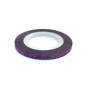 Zdobiaca páska 3mm - glitter fialová vyobraziť