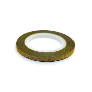 Zdobiaca páska 3mm - glitter zlatá vyobraziť