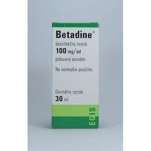 Betadine dezinfekčný roztok 30ml - Egis Pharmaceuticals - 62315 vyobraziť