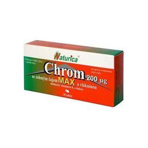 Naturica CHRÓM MAX so zeleným čajom a vlákninou (chróm 200 µg) 30 tbl vyobraziť