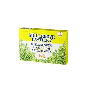 Müllerove pastilky s Islandským lišajníkom a vitamínom C 12 past - Dr. Müller Pharma s.r.o. vyobraziť