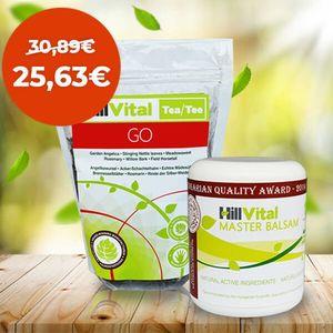 Hillvital | Balíček STOP bolesti na zmiernenie bolesti kĺbov a svalov 600g vyobraziť