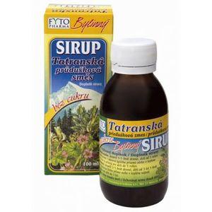 Fyto Tatranska prieduskova zmes sirup bez cukru bylinný 100 ml vyobraziť