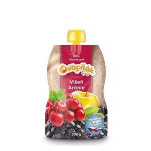 Pyré 100% ovocné jablko, višňa, arónia 200g vyobraziť