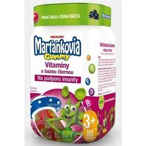 WALMARK Marťankovia Gummy Vitamíny s Bazou čiernou želatínové tablety, príchuť jablko a čierna ríbezľa 1x50 ks vyobraziť