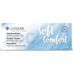 LIVSANE Soft Comfort Hygienické vreckovky 3-vrstvové, papierové 10x10 ks (100 ks) vyobraziť