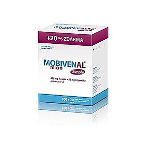 Mobivenal Micro Simple 100+20 tabliet vyobraziť