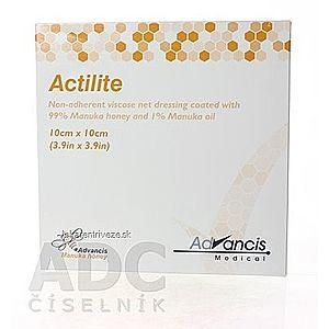 ACTILITE krytie na rany antimikrobiálne 10x10 cm, neadherentná viskóza, napustené manukou 1x10 ks vyobraziť