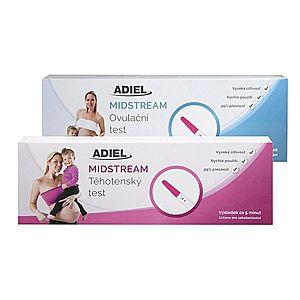 Sada midstream testov - ADIEL midstream tehotenský test 3ks + ADIEL midstream ovulačný test 3ks vyobraziť