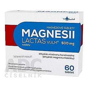 MAGNESII LACTAS VULM 500 mg tbl (blis.Al/PVC) 1x60 ks vyobraziť