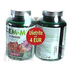 CEM-M GUMMIES IMUNITA želatínové multivitamíny s Echinaceou (zľava 4€) 2x60 (120 ks) vyobraziť