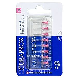 CURAPROX CPS 08 prime refill ružová medzizubné kefky bez držiaka 1x8 ks vyobraziť