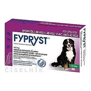 FYPRYST 402 mg PSY NAD 40 KG roztok na kvapkanie na kožu pre psov (pipeta) 1x4, 02 ml vyobraziť