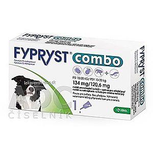 Fypryst Combo 134 mg/120, 6 mg psy 10-20 kg vyobraziť