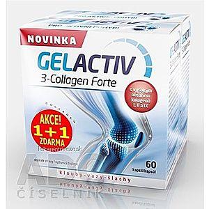 GELACTIV 3-Collagen Forte Akcia 1+1 cps 60+60 zadarmo (120 ks), 1x1 set vyobraziť