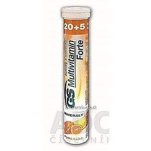 GS Multivitamín Forte šumivý s minerálmi pomaranč tbl eff 20+5 vyobraziť