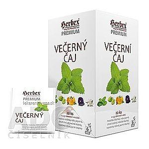 HERBEX Premium VEČERNÝ ČAJ bylinná zmes, čaj 20x1, 5 g (30 g) vyobraziť