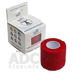 Kine-MAX Cohesive Elastic Bandage elastické samofixačné ovínadlo, 5cm x 4, 5m, červené 1x1 ks vyobraziť