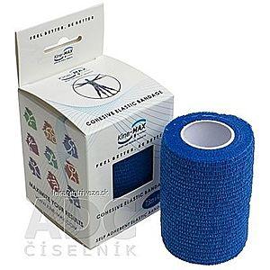 Kine-MAX Cohesive Elastic Bandage elastické samofixačné ovínadlo, 7, 5cm x 4, 5m, modré 1x1 ks vyobraziť