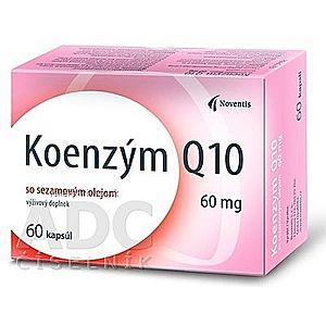 Noventis Koenzým Q10 60 mg so sezamovým olejom, cps 1x60 ks vyobraziť