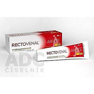 RECTOVENAL ACUTE anorektálny gél na hemoroidy, s aplikátorom 1x20 g vyobraziť