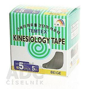 TEMTEX KINESOLOGY TAPE tejpovacia páska, 5 cm x 5 m, béžová 1x1 ks vyobraziť