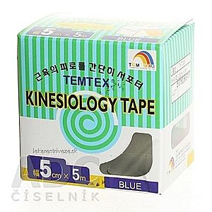 TEMTEX KINESOLOGY TAPE tejpovacia páska, 5 cm x 5 m, modrá 1x1 ks vyobraziť