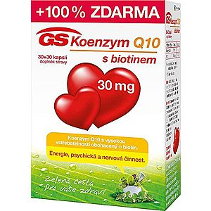 GreenSwan GS Koenzým Q10 30 mg 30 kapslí + 30 kapslí vyobraziť