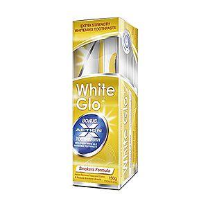 White Glo Smokers zubná pasta pre fajčiarov 150 g + kefka na zuby a medzizubné kefky vyobraziť
