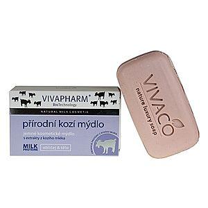 Vivapharm Prírodné jemné kozmetické mydlo s extraktmi z kozieho mlieka (tuhé) 100 g vyobraziť