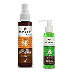 Messinian Spa Opaľovací olej na tvár a telo SPF 15 100 ml + Aloe Vera Gel 100 ml vyobraziť