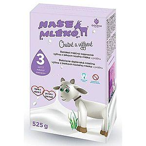 Goldim Naše mlieko 3 Batol. výživa z kozieho mlieka 12 m + 525 g vyobraziť